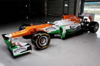 Force India Mercedes VJM05 (Force India, Silverstone, bemutató, 2012.02.03)